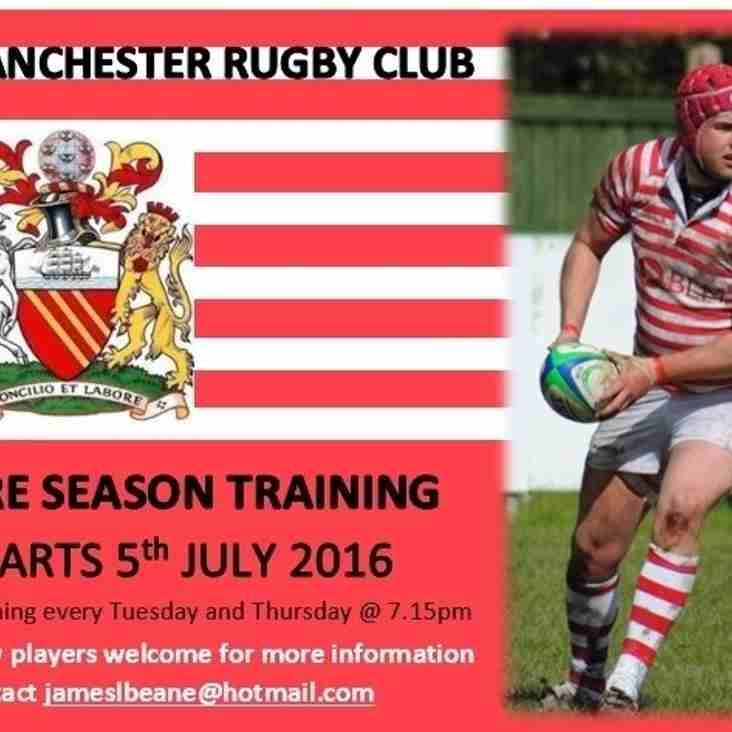 Senior Men Pre-Season Training - Starts 5th July