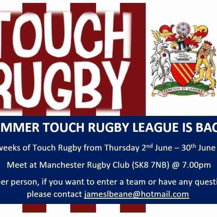 Summer Touch Rugby Is Back!