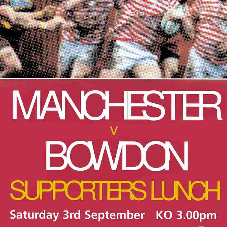 Supporters Lunch - Saturday 3rd September