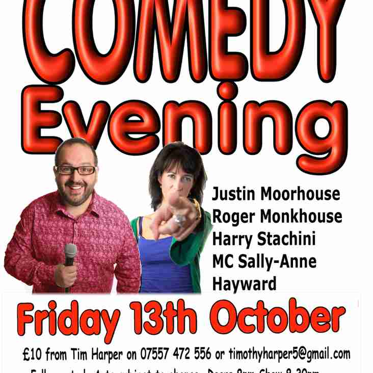 Comedy Evening - Friday 13th October