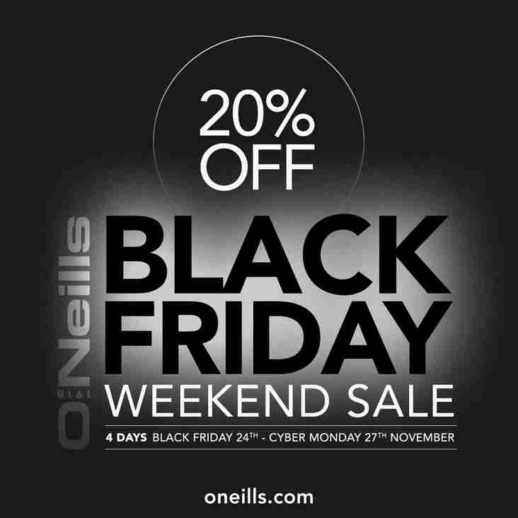 O'Neills 'Black Friday' Weekend Sale