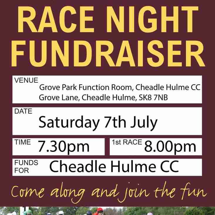 CHCC Race Night - Saturday 7th July 2018
