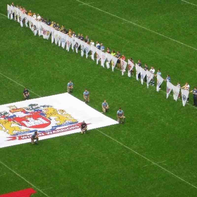 Ryan( Dutchy) Holland. Flag Bearer at Wembley