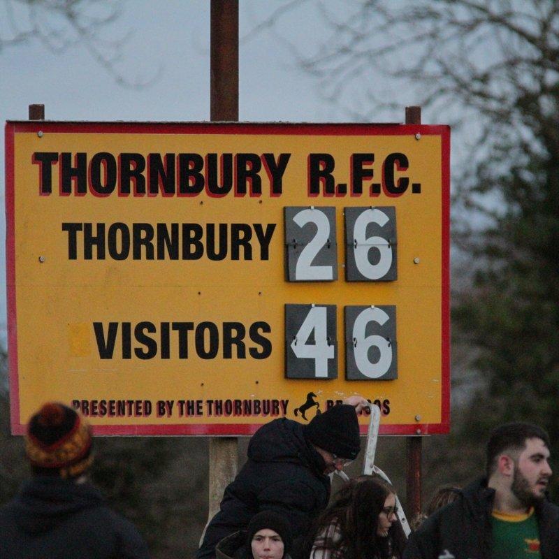 Thornbury 26 Newent 46 Report by Simon Barker