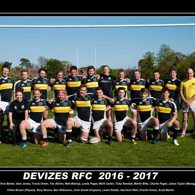 Devizes RFC Team Photo 2016-17