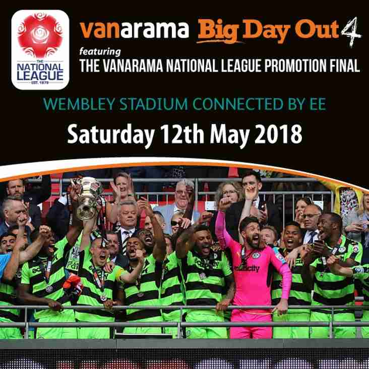 Vanarama National League promotion final tickets now available!