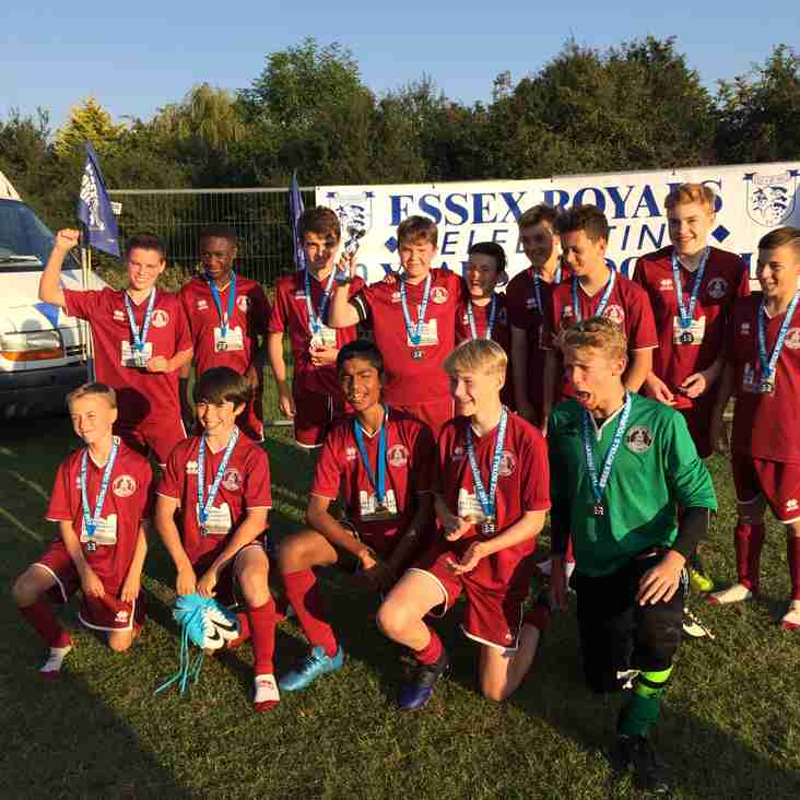 U14 Clarets take the top spot at Essex Royals Tournament