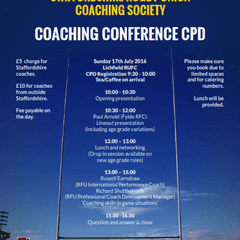 Staffordshire Coaching Conference