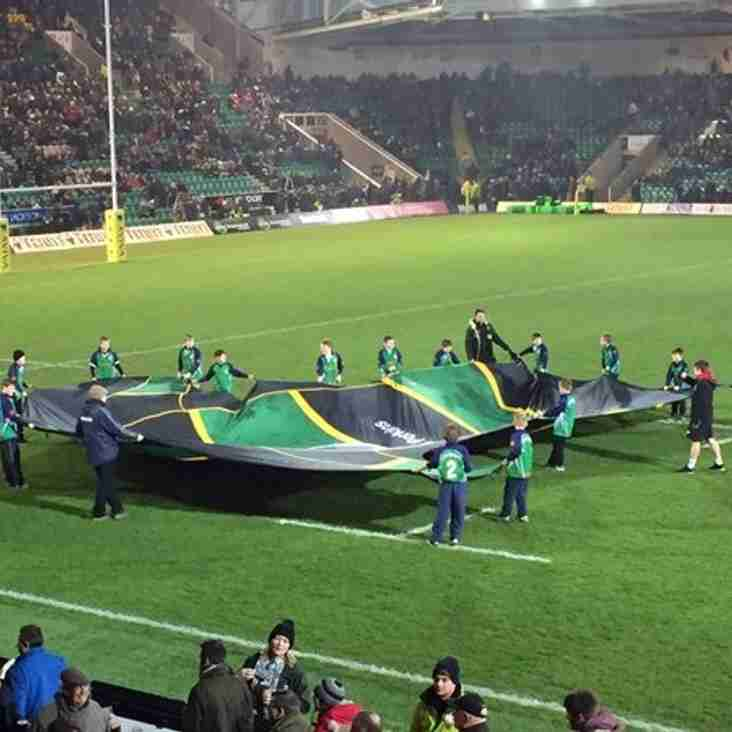 Long Buckby RFC M & J players - Shirt Bearers @ Franklin Gardens for the Wasps match, live on TV