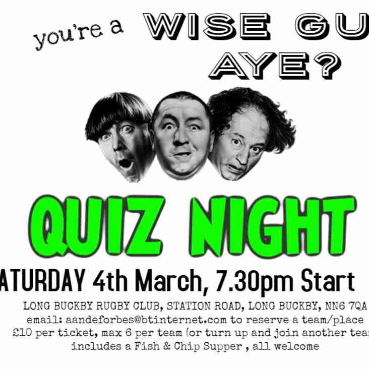 QUIZ Night @ Long Buckby RFC - Saturday 4th March