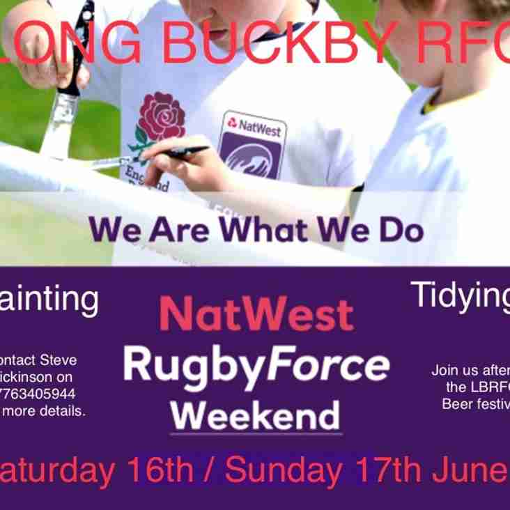 NATWEST Rugby Force Weekend - This Weekend