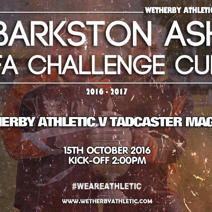 NEWS: Barkston Ash FA Challenge Cup.<