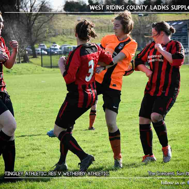 PREVEIW: Tingley Athletic Ladies Reserves v Wetherby Athletic