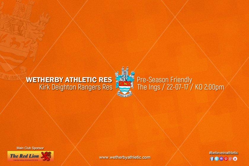 PREVIEW v Kirk Deighton Rangers Reserves
