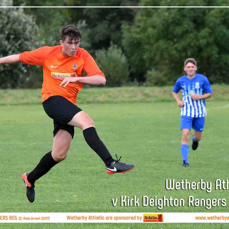 PHOTOS: Wetherby Athletic Reserves v Kirk Deighton Rangers Reserves (22 Jul 2017)