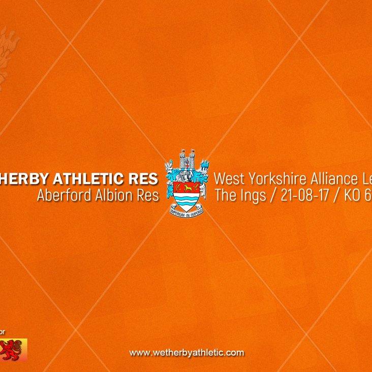 PREVIEW v Aberford Albion Reserves<
