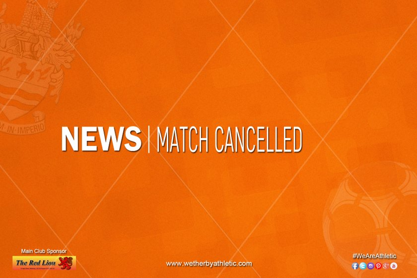 NEWS: Match Cancelled