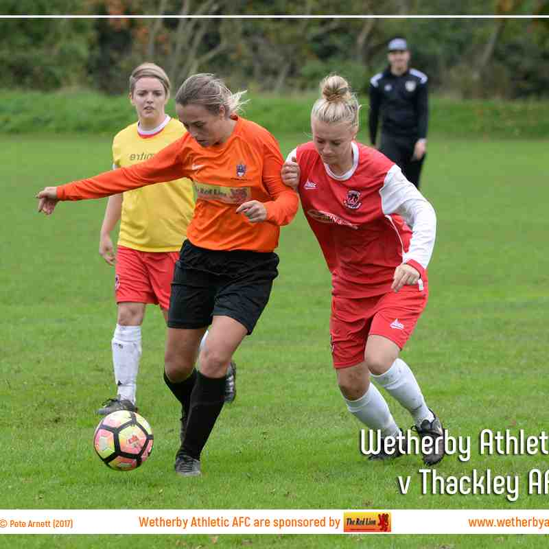 PHOTOS: Wetherby Athletic Ladies v Thackley AFC Ladies (1st Oct 2017)