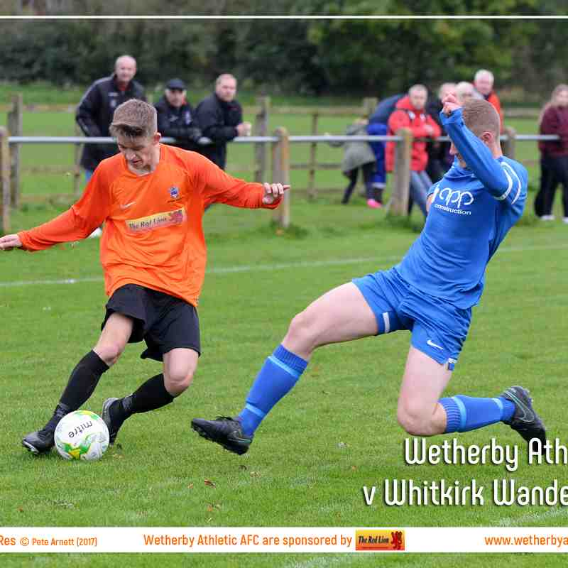 PHOTOS: Wetherby Athletic Res v Whitkirk Wanderers Res (7th Oct 2017)