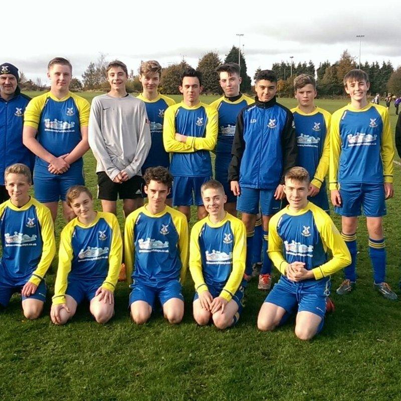 Shelf Juniors Under 16 beat DEWSBURY RGS 'B 1 - 4
