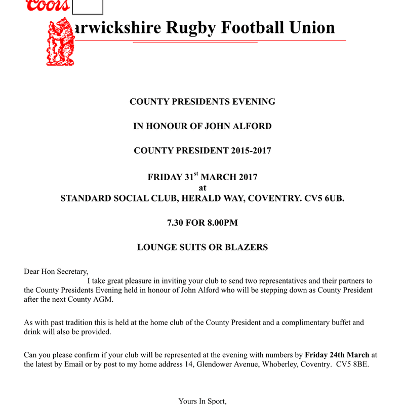 WRFU COUNTY PRESIDENTS EVENING