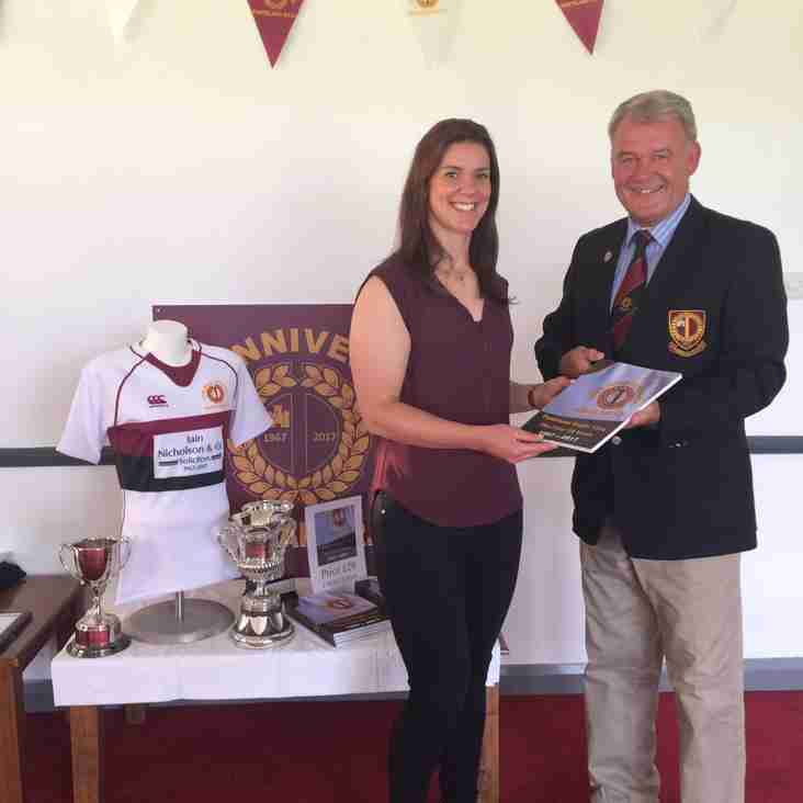 Ponteland Rugby Club's Terry O'Neill starts his year of office as County President