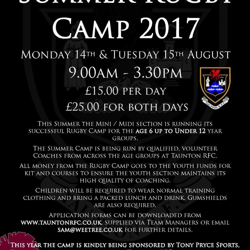 TRFC Summer Camp 2017 - Age 6 - U12