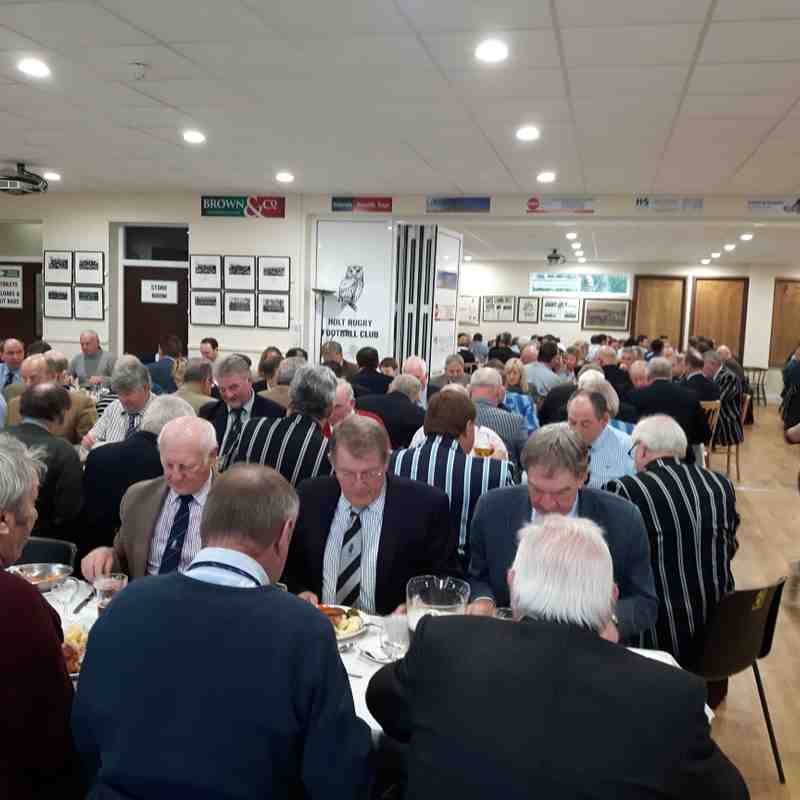 Holt v Diss, 7th January 2017. Prematch lunch for 176