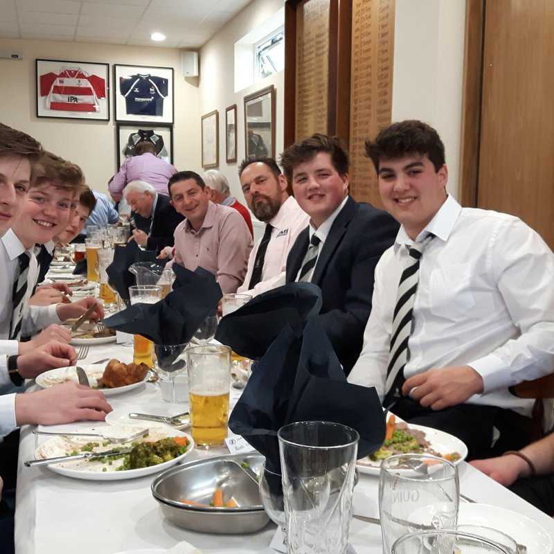 1st XV v's Epping Upper Clapton. Pre Match Lunch. Sat 4th March