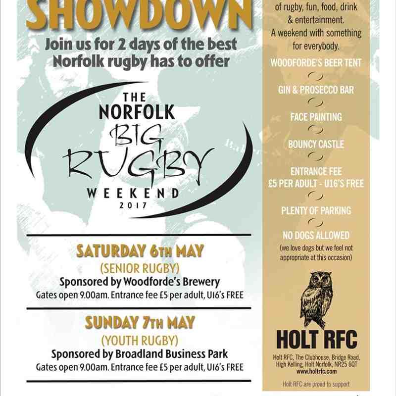 Norfolk Big Rugby Weekend May 2017