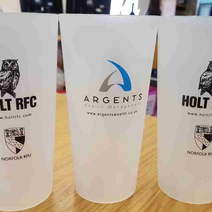 Eco Cups will raise money for local charities at the Norfolk Big Rugby Weekend