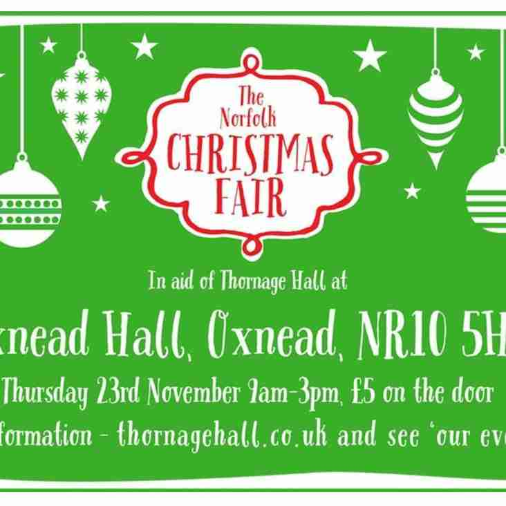Volunteers requested to help with Thornage Hall's Christmas Fair event