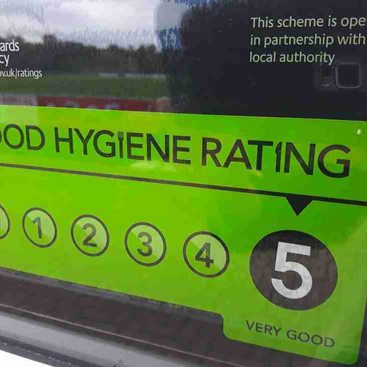 Proud to be awarded a 5* Food Hygiene Rating