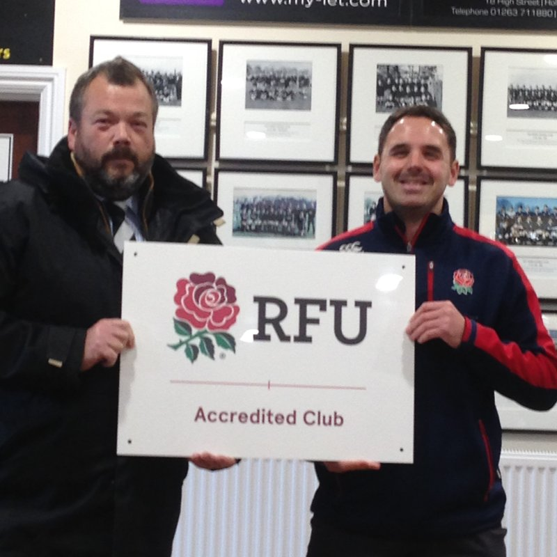 Holt Rugby Club has been re-accredited by the RFU
