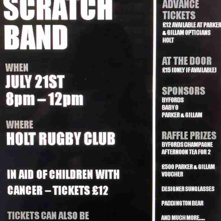 The Scratch Band charity event for Children with Cancer