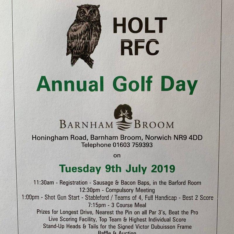 Annual Golf Day at Barnham Broom Golf Club, 9th July