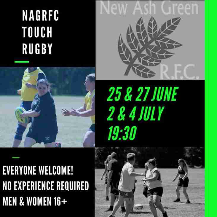 NAG TOUCH RUGBY IS BACK