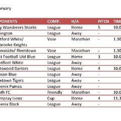 2014 Fixtures