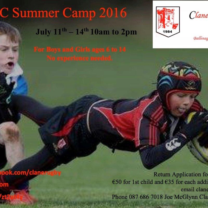 Clane RFC Summer Camp