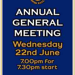 Reminder of AGM