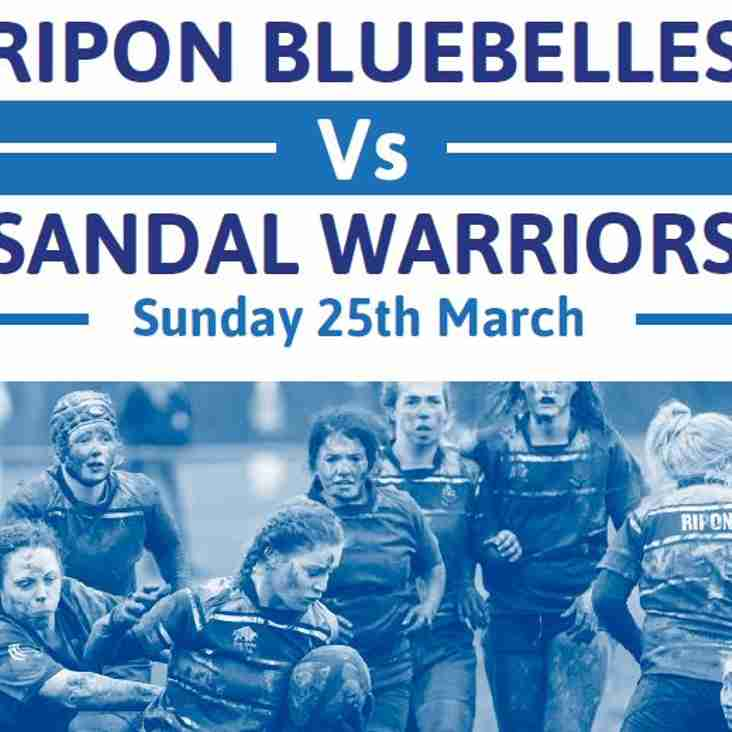Team Selection - Bluebelles - Sunday 25th March
