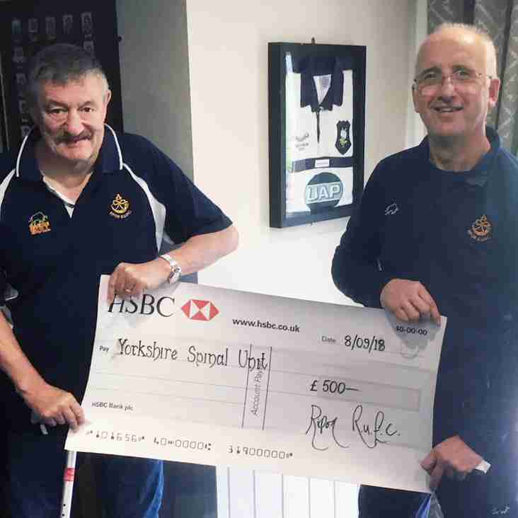 Club Donates to Yorkshire Spinal Unit