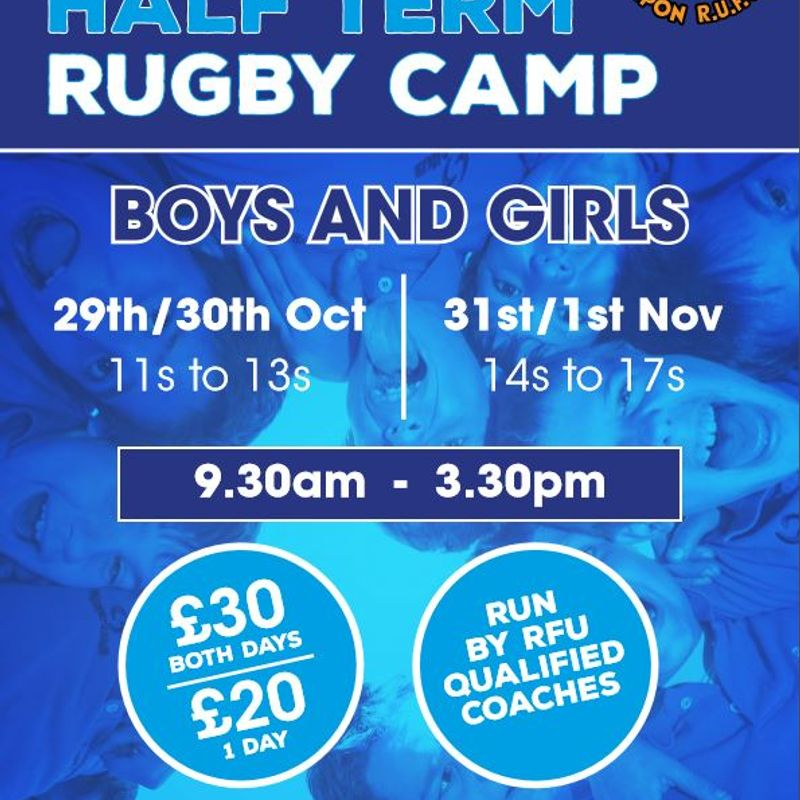 October Rugby Camps