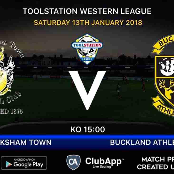 Next up- Melksham Town FC v Buckland Athletic