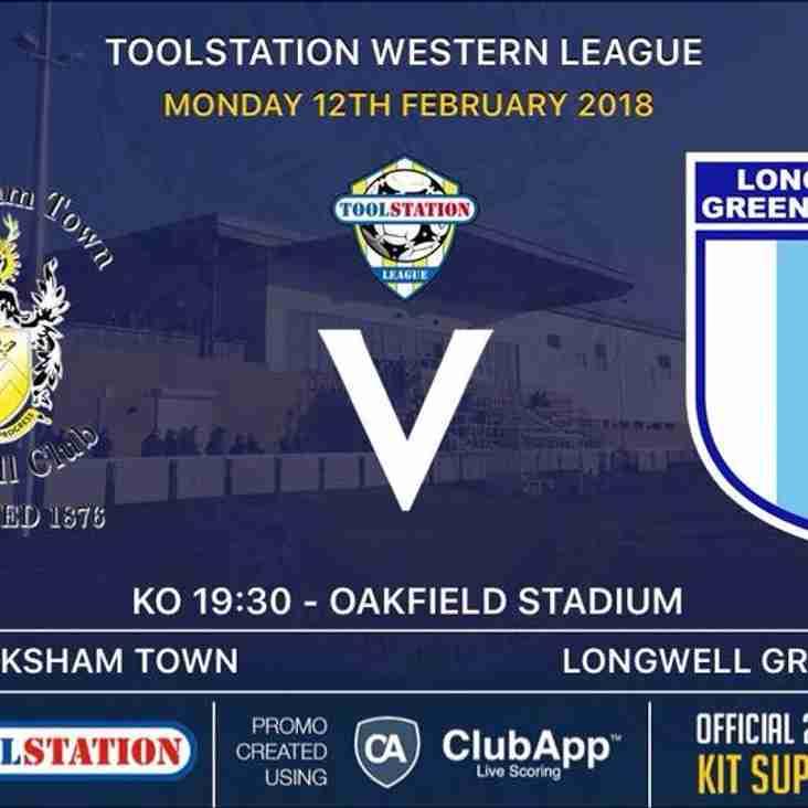 Next up- Melksham Town v Longwell Green Sports