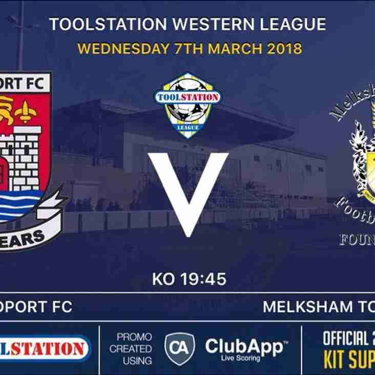 Next Up- Bridport FC v Melksham Town FC