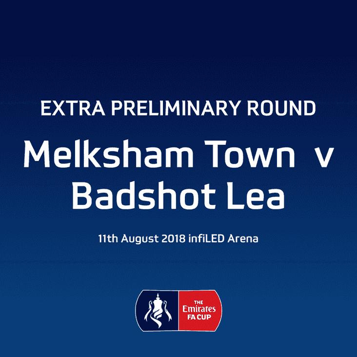 FA Cup  Extra Preliminary Round- Melksham Town V Badshot Lea