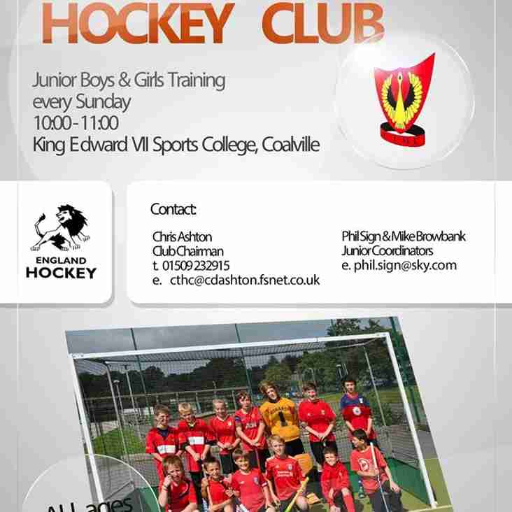 Junior Training returns this Sunday 10th May