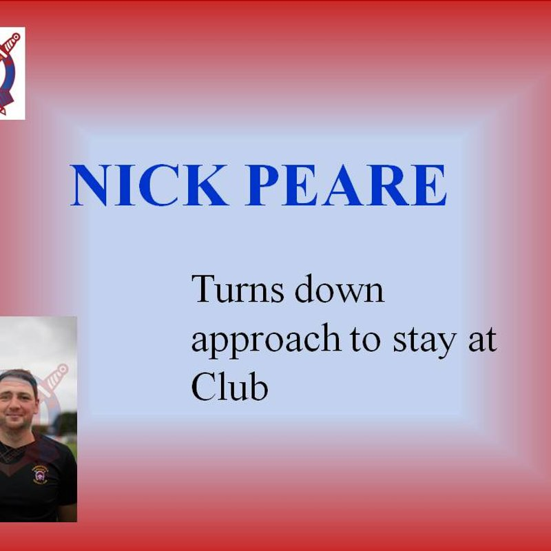 Nick Peare to Stay