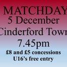 Mangotsfield United...1  Cinderford Town...1